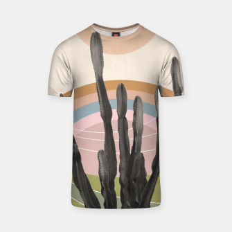 Cactus in the Desert #2 #tropical #wall #art T-Shirt obraz miniatury