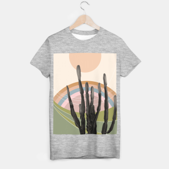 Cactus in the Desert #2 #tropical #wall #art T-Shirt regulär obraz miniatury