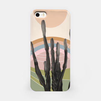 Cactus in the Desert #2 #tropical #wall #art iPhone-Hülle obraz miniatury