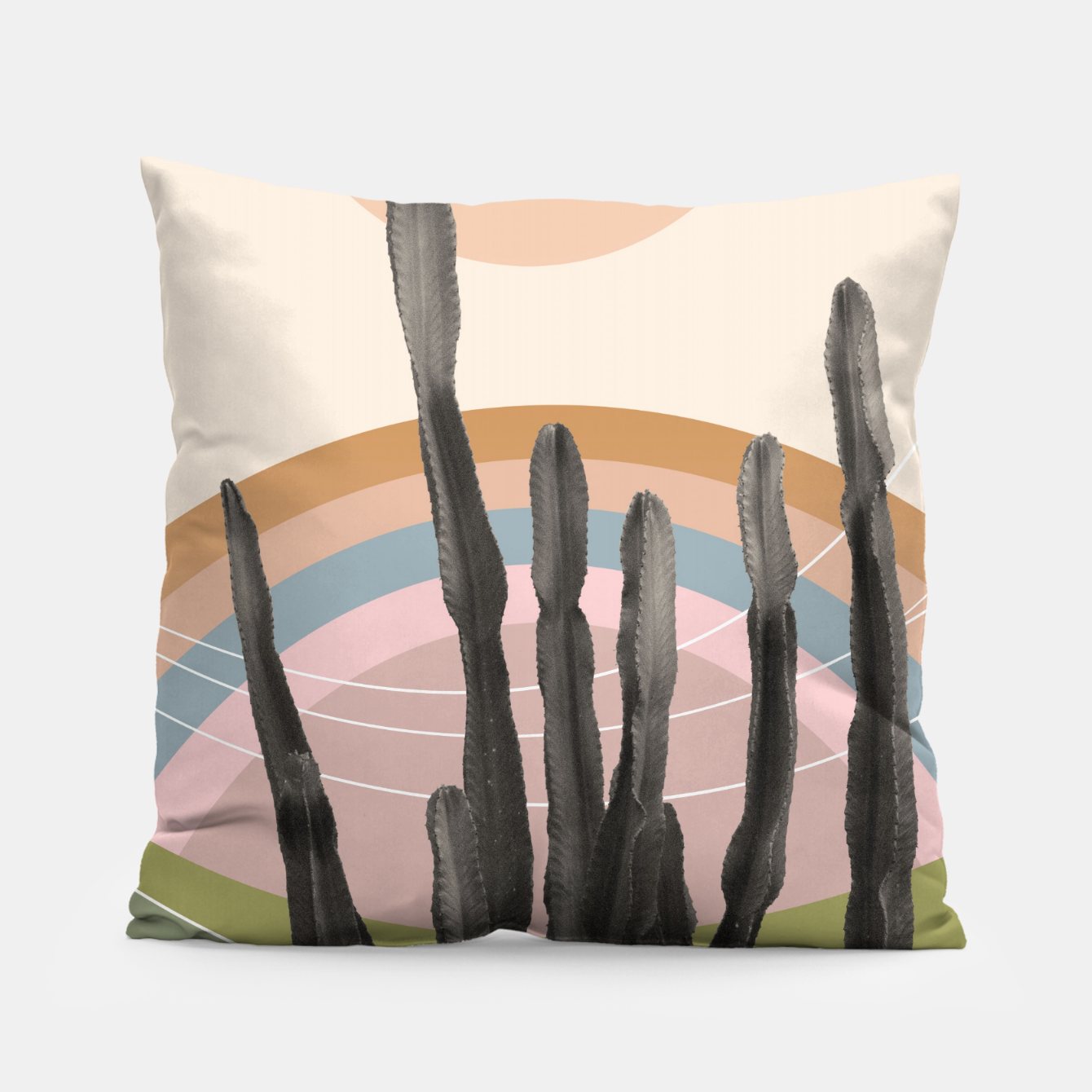 Zdjęcie Cactus in the Desert #2 #tropical #wall #art Kissen - Live Heroes