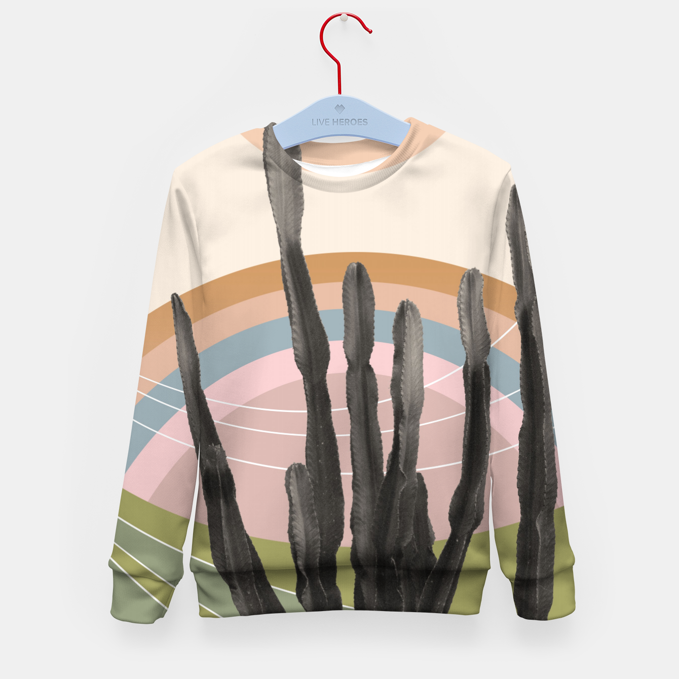 Zdjęcie Cactus in the Desert #2 #tropical #wall #art Kindersweatshirt - Live Heroes