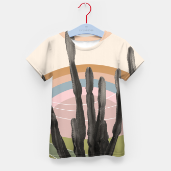 Cactus in the Desert #2 #tropical #wall #art T-Shirt für kinder obraz miniatury