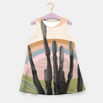 Miniaturka Cactus in the Desert #2 #tropical #wall #art Mädchen-Sommerkleid, Live Heroes