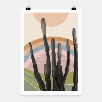 Miniaturka Cactus in the Desert #2 #tropical #wall #art Plakat, Live Heroes