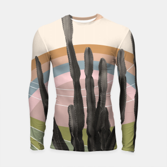Cactus in the Desert #2 #tropical #wall #art Longsleeve rashguard obraz miniatury