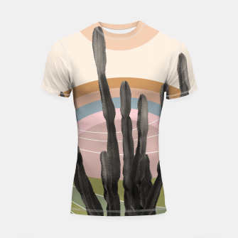Cactus in the Desert #2 #tropical #wall #art Shortsleeve rashguard obraz miniatury