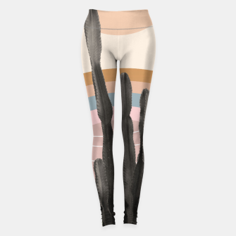 Miniaturka Cactus in the Desert #2 #tropical #wall #art Leggings, Live Heroes
