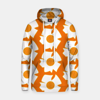 Imagen en miniatura de White flowers on orange Sudadera con capucha, Live Heroes