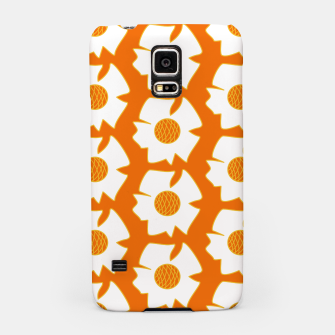 Imagen en miniatura de White flowers on orange Carcasa por Samsung, Live Heroes
