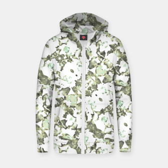 Thumbnail image of Modern Abstract Camo Print Pattern Zip up hoodie, Live Heroes