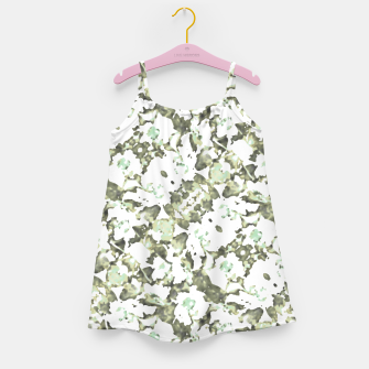 Thumbnail image of Modern Abstract Camo Print Pattern Girl's dress, Live Heroes
