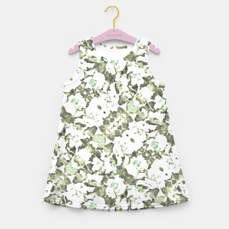 Thumbnail image of Modern Abstract Camo Print Pattern Girl's summer dress, Live Heroes