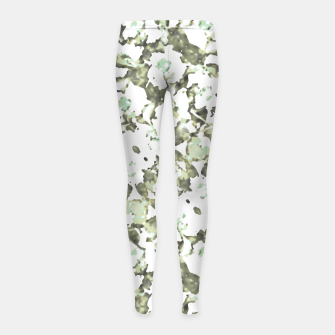 Thumbnail image of Modern Abstract Camo Print Pattern Girl's leggings, Live Heroes