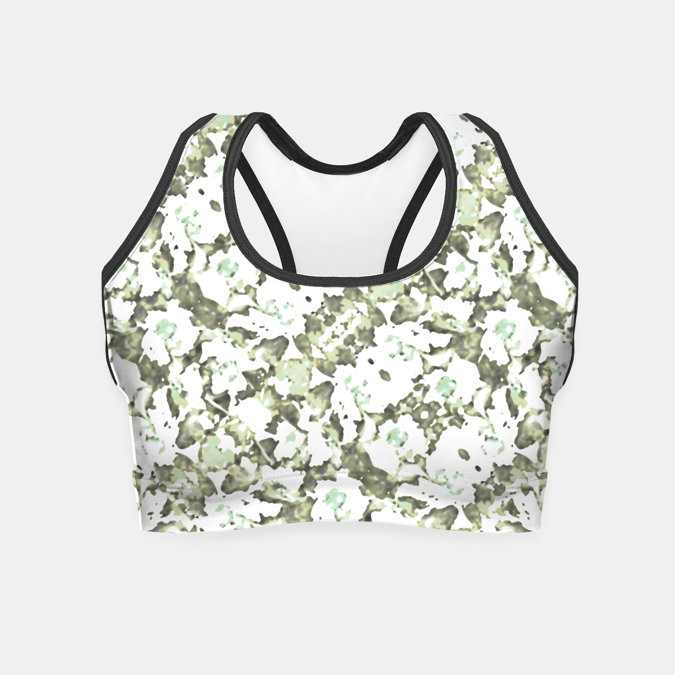 Image of Modern Abstract Camo Print Pattern Crop Top - Live Heroes