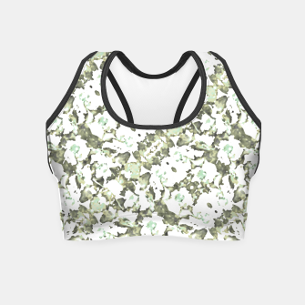 Miniaturka Modern Abstract Camo Print Pattern Crop Top, Live Heroes