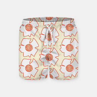 Thumbnail image of Reddy flowers on light yellow Pantalones de baño, Live Heroes