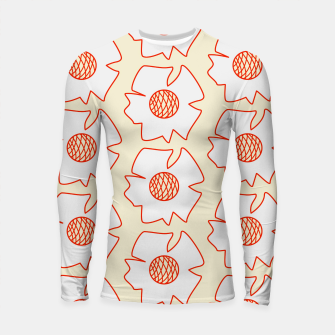 Thumbnail image of Reddy flowers on light yellow Longsleeve rashguard, Live Heroes