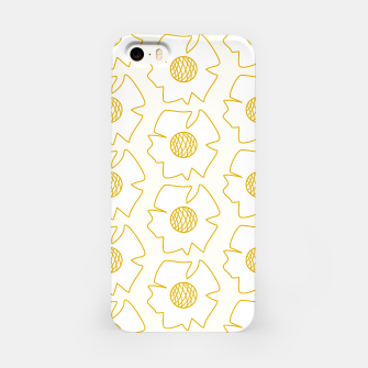 Imagen en miniatura de White flowers on light yellow  Carcasa por Iphone, Live Heroes