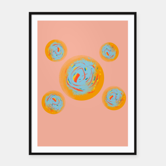 Miniatur circles Framed poster, Live Heroes