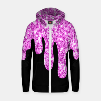 Thumbnail image of Dripping Sparkles Orchid Pink Purple Zip up hoodie, Live Heroes