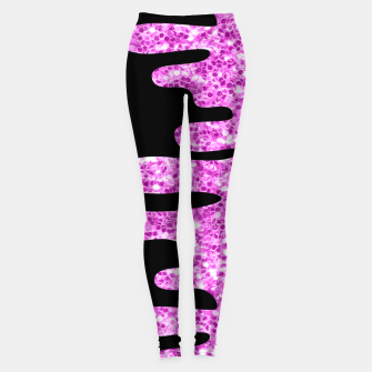 Thumbnail image of Dripping Sparkles Orchid Pink Purple Leggings, Live Heroes