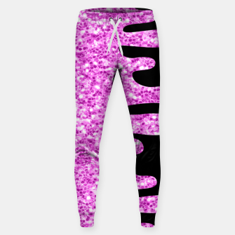 Thumbnail image of Dripping Sparkles Orchid Pink Purple Sweatpants, Live Heroes