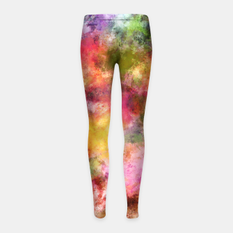 Thumbnail image of Lovely flowers Girl's leggings, Live Heroes