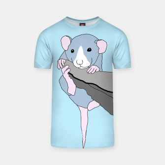 Miniatur Rat bouldering - hanging on t shirt, Live Heroes
