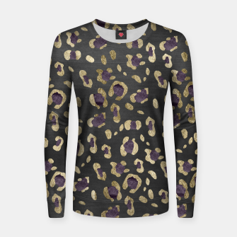 Thumbnail image of Leopard Animal Print Glam #11 #pattern #decor #art  Frauen sweatshirt, Live Heroes