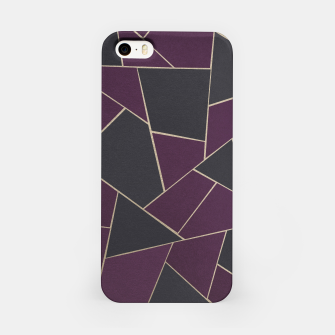 Imagen en miniatura de Charcoal Purple Gold Geometric Glam #1 #geo #decor #art iPhone-Hülle, Live Heroes