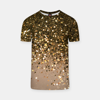 Miniatur Sparkling Gold Brown Glitter Glam #1 (Faux Glitter) #shiny #decor #art  T-Shirt, Live Heroes