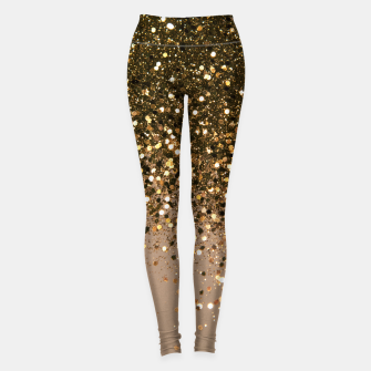 Miniaturka Sparkling Gold Brown Glitter Glam #1 (Faux Glitter) #shiny #decor #art  Leggings, Live Heroes