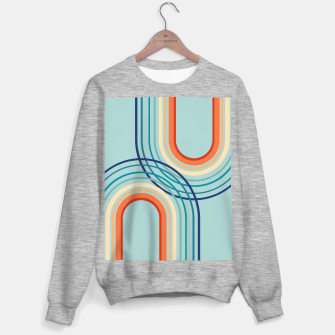 Miniaturka Rainbow Arch Minimal Abstract #2a #decor #art  Sweatshirt regulär, Live Heroes