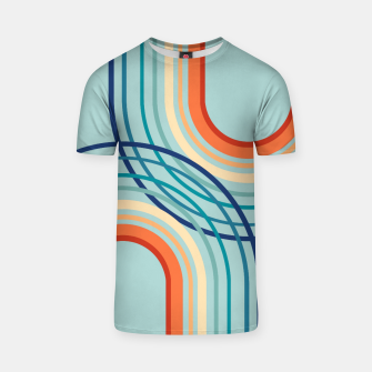 Miniaturka Rainbow Arch Minimal Abstract #2a #decor #art  T-Shirt, Live Heroes