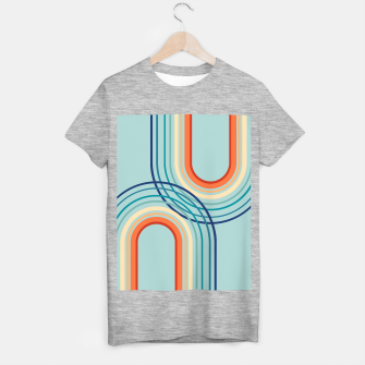 Miniaturka Rainbow Arch Minimal Abstract #2a #decor #art  T-Shirt regulär, Live Heroes