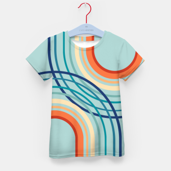 Miniaturka Rainbow Arch Minimal Abstract #2a #decor #art  T-Shirt für kinder, Live Heroes