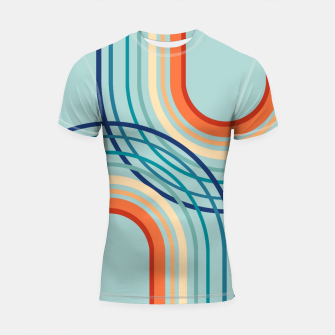 Miniaturka Rainbow Arch Minimal Abstract #2a #decor #art  Shortsleeve rashguard, Live Heroes