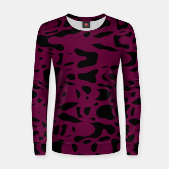 Miniaturka Plum purple, black particles drifting into the space, floating pieces, abstract texture design Women sweater, Live Heroes