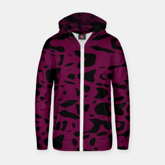 Miniaturka Plum purple, black particles drifting into the space, floating pieces, abstract texture design Zip up hoodie, Live Heroes