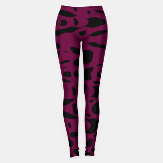 Miniaturka Plum purple, black particles drifting into the space, floating pieces, abstract texture design Leggings, Live Heroes
