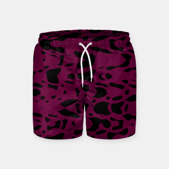 Miniaturka Plum purple, black particles drifting into the space, floating pieces, abstract texture design Swim Shorts, Live Heroes