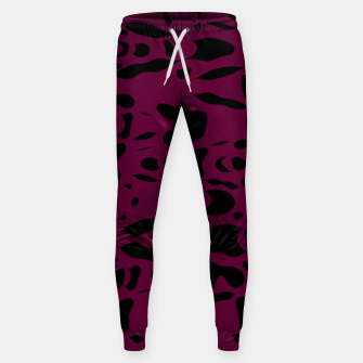 Miniaturka Plum purple, black particles drifting into the space, floating pieces, abstract texture design Sweatpants, Live Heroes