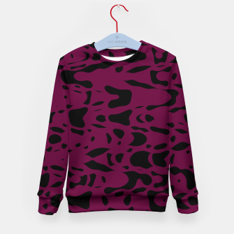 Miniaturka Plum purple, black particles drifting into the space, floating pieces, abstract texture design Kid's sweater, Live Heroes