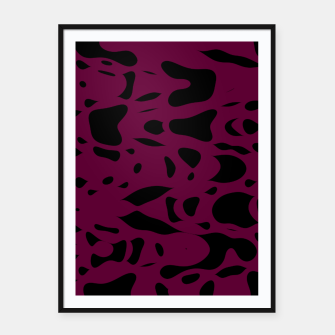 Miniaturka Plum purple, black particles drifting into the space, floating pieces, abstract texture design Framed poster, Live Heroes
