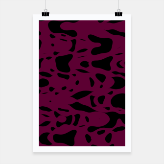 Miniaturka Plum purple, black particles drifting into the space, floating pieces, abstract texture design Poster, Live Heroes