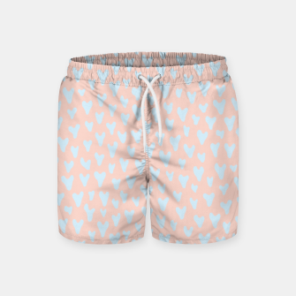 Thumbnail image of Painted Tender Hearts Swim Shorts, Live Heroes