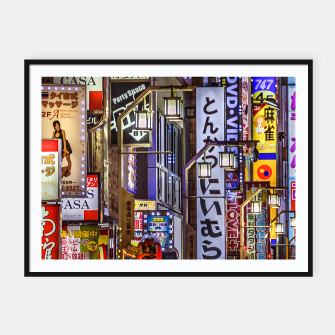 Miniaturka Shinjuku District Urban Night Scene, Tokyo Japan Framed poster, Live Heroes