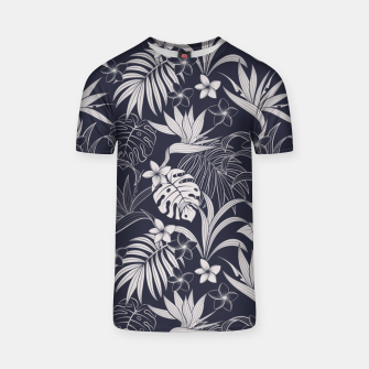 Thumbnail image of Tropical navy blue Camiseta, Live Heroes