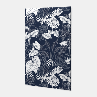 Thumbnail image of Tropical navy blue Canvas, Live Heroes