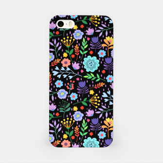 Imagen en miniatura de Flowerfield Black iPhone Case, Live Heroes
